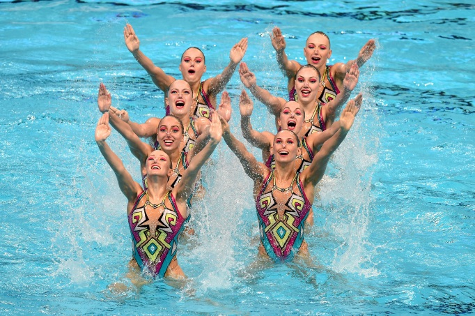 Russia synchronized swimming team