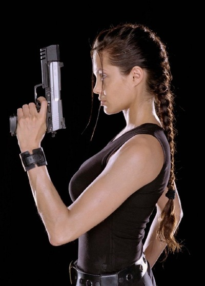 Angelina Jolie as Lara Croft in