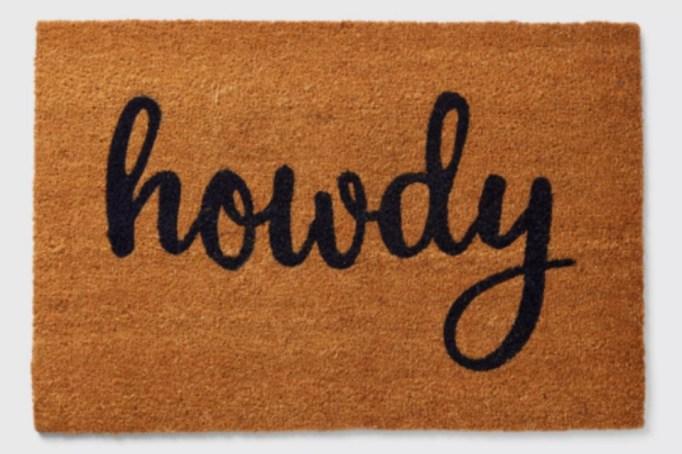 Draper James Howdy Doormat