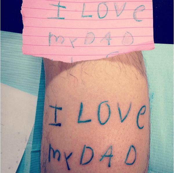 Sticky note tattoo