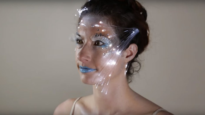 Fiber-optic makeup is the glitzy look