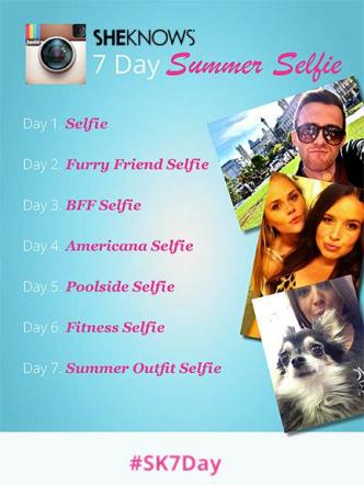 SheKnows 7-day summer selfie Instagram challenge
