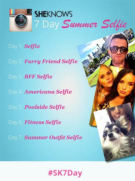 SheKnows 7-day summer selfie Instagram challenge