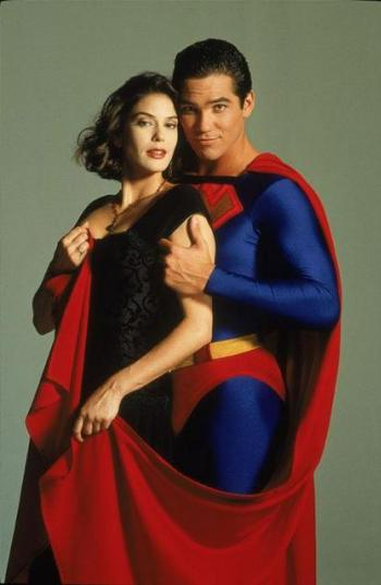 Teri Hatcher and Dean Cain in Lois and Clark