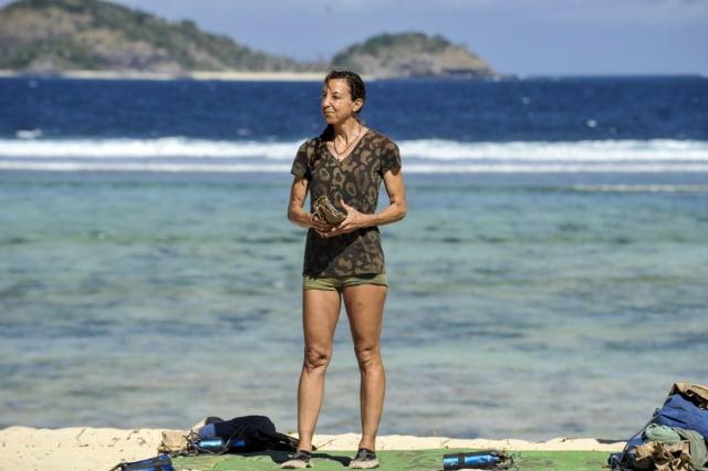 Debbie Wanner on challenge beach during Survivor: Game Changers