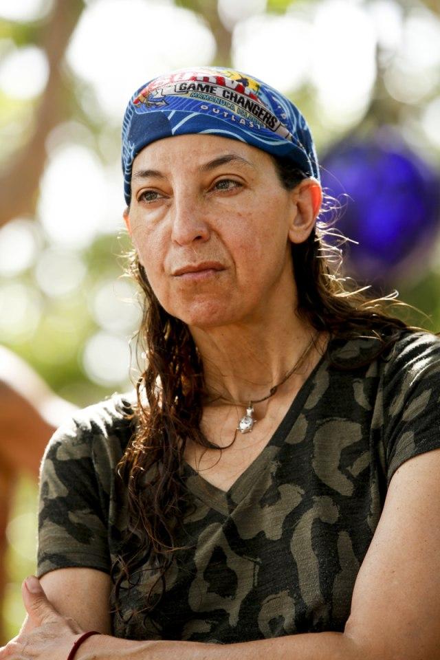 Debbie Wanner at Nuku camp on Survivor: Game Changers