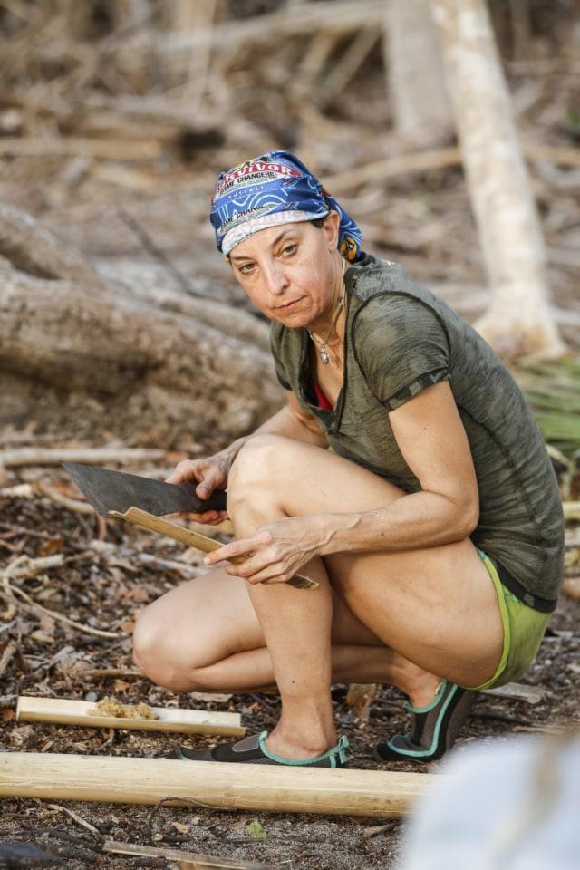 Debbie Wanner works at Nuku camp on Survivor: Game Changers