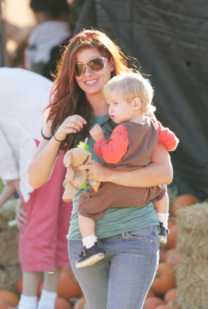 Debra Messing and son Roman