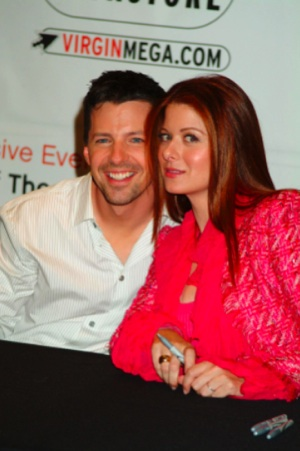 Sean Hayes and Debra Messing