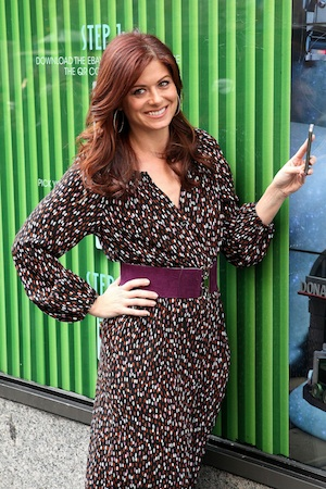 Debra Messing gets together with co-star Will Chase.