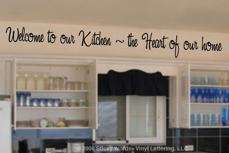 Above the kitchen cabinets