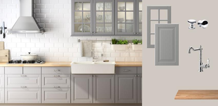 Between cupboards and counter tops