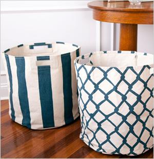 Pehr Canvas Basket, See Jane Work