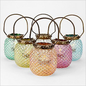 Hobnail candle holders