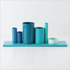 bright blue desktop organizer