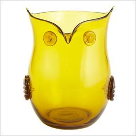 Owl hurricane candleholder