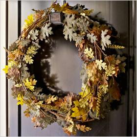 Faux oak wreath