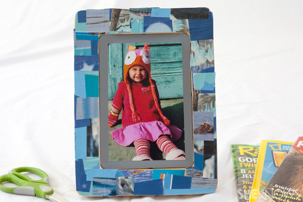Decoupage picture frame - Father's Day gifts