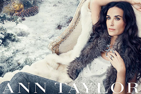 Demi Moore for Ann Taylor