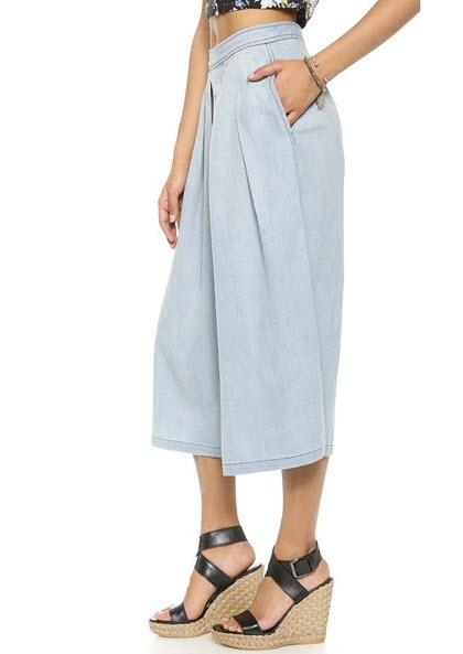 Denim culottes from Shopbob