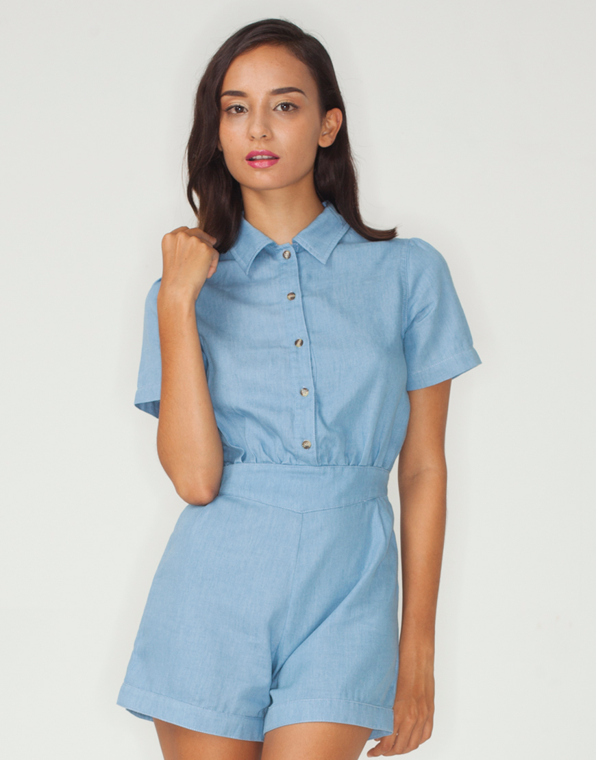 Motel Dakota Colared Playsuit
