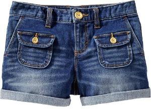 girls denim shorts