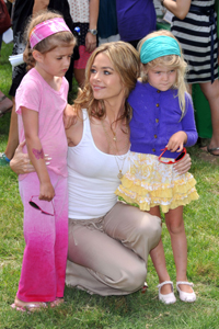 Denise Richards and daughters Sam and Lola