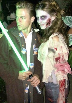Derek Hough and Maria Menounos Halloween 2012