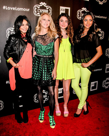 Nanette Lepore with daughter Violet, Vanessa Hudgens and Shay Mitchell