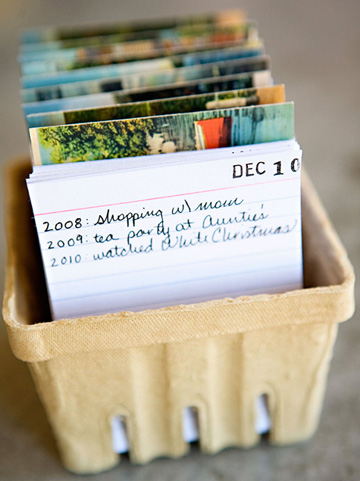 We love the idea of this creative calendar journal for documenting memorable events in a compact space.