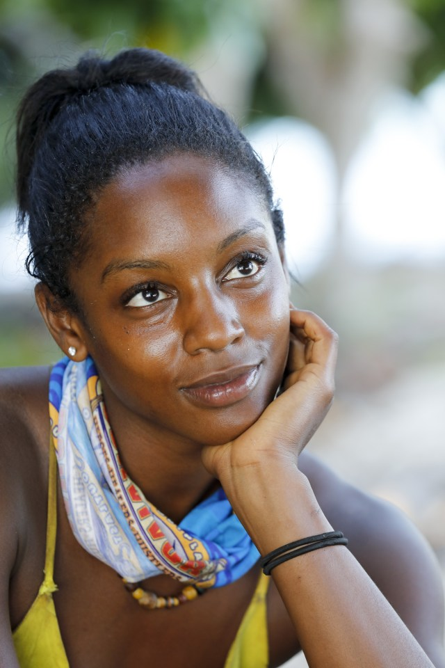 Desiree Williams at camp on Survivor: Heroes Vs. Healers Vs. Hustlers
