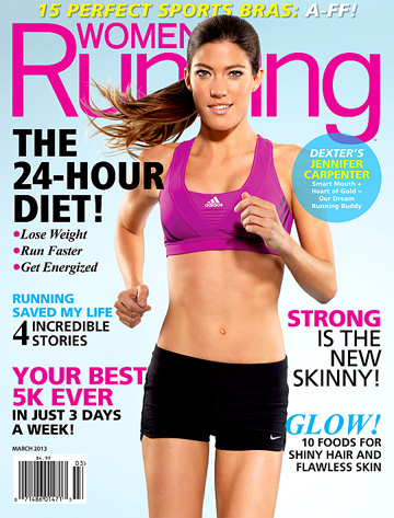 Jennifer Carpenter on the cover of Women's Running's March issue