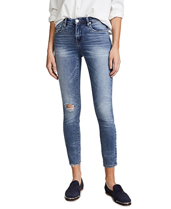 Blank Denim Mid-Rise Skinny Ankle Jeans