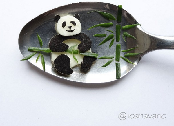 17 Bite-size pieces of food art