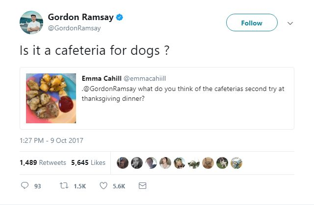 Gordon Ramsay's Meanest Tweets: Even dogs don't want this dish