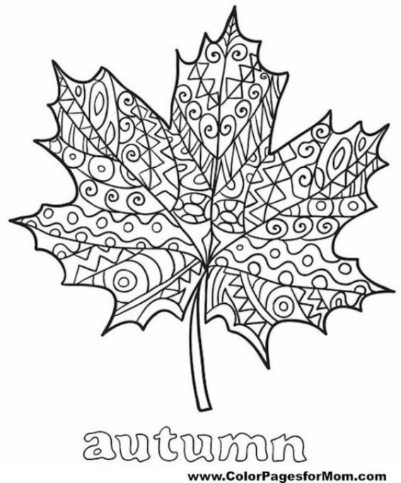 Free Thanksgiving-Themed Coloring Pages for Kids: Autumn Leaf Design