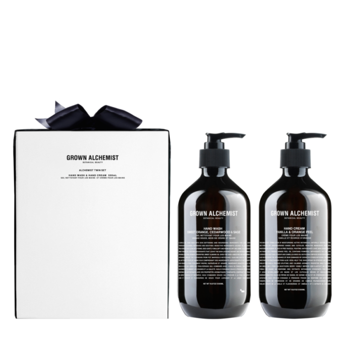 Beauty Products That Will Sell Out Fast This Holiday Season | Grown Alchemist Hand Wash & Hand Cream Twin Set