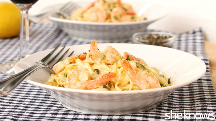 Make this fancy pasta and shrimp