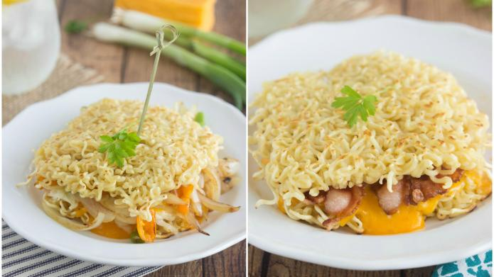 Ramen noodle grilled cheese is man