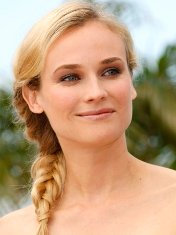 Diane Kruger with fishtal braid