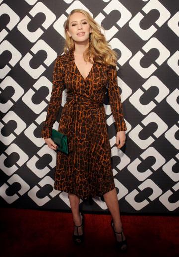 Dylan Penn wearing wrap dress