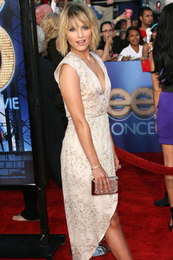 Dianna Agron on the Glee red carpet