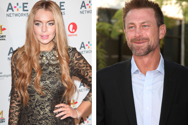 Lindsay Lohan and Grant Bowler