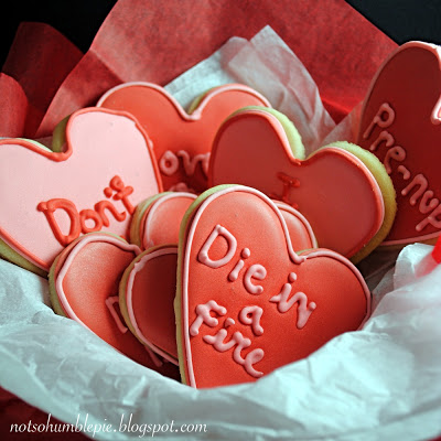 die in a fire valentine's day cookies
