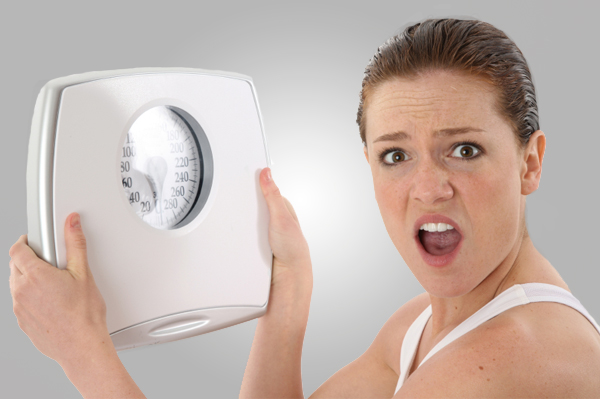 Angry Woman with Scale