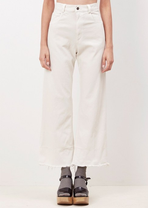 Wide Leg Pants Are Making a Comeback: Rachel Comey Dirty White Legion Pant | Summer Style 2017