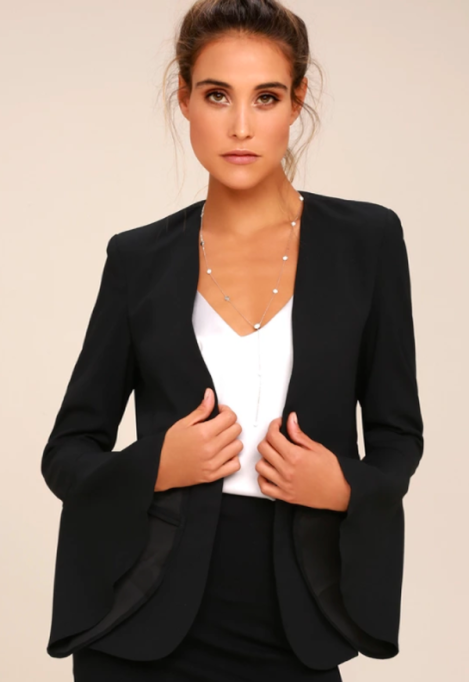 Modern Ways to Wear Blazers: Night Visions Black Cropped Blazer | Fall Fashion 2017