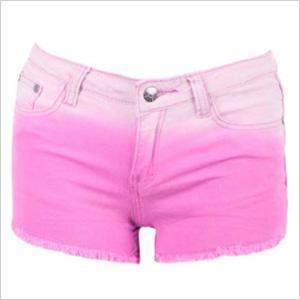 Pink Dip Dye Shorts from FashionUnion.com