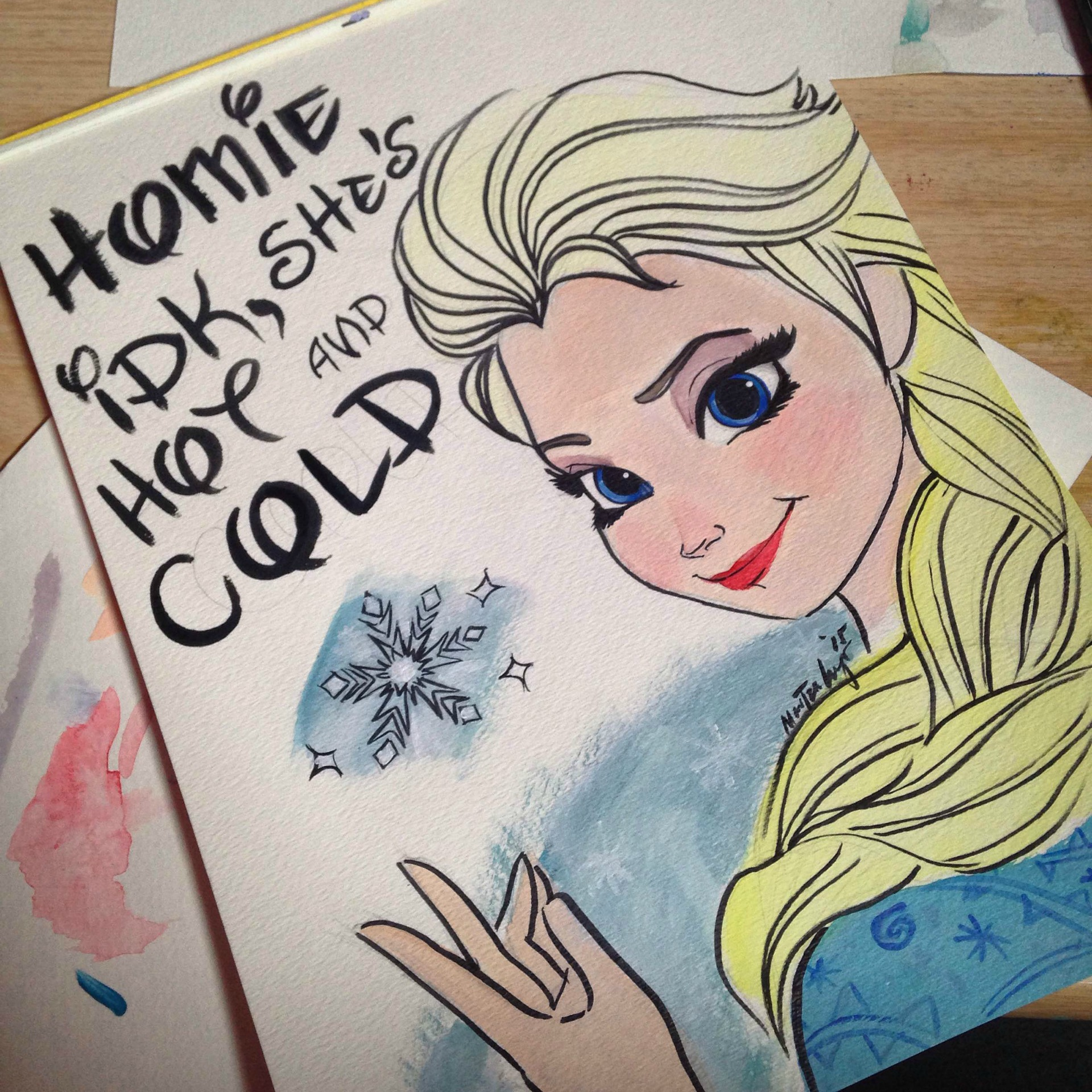 Artist creates Disney princess illustrations with Kanye West lyrics