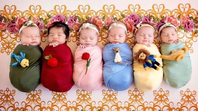 Babies Dressed as Disney Princesses for